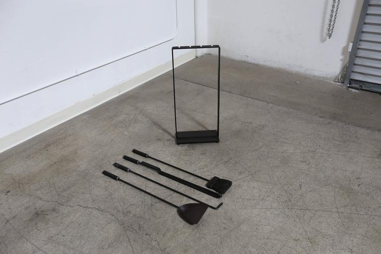 Modernist Fire Tools In Good Condition For Sale In Costa Mesa, CA