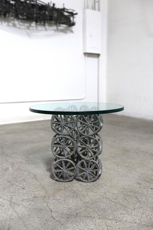 Side table by Donald Drumm.