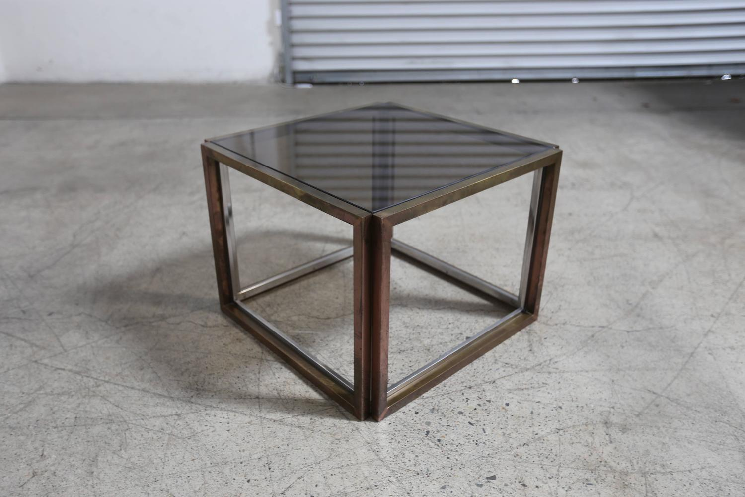 Side table by willy rizzo at 1stdibs for Table willy rizzo