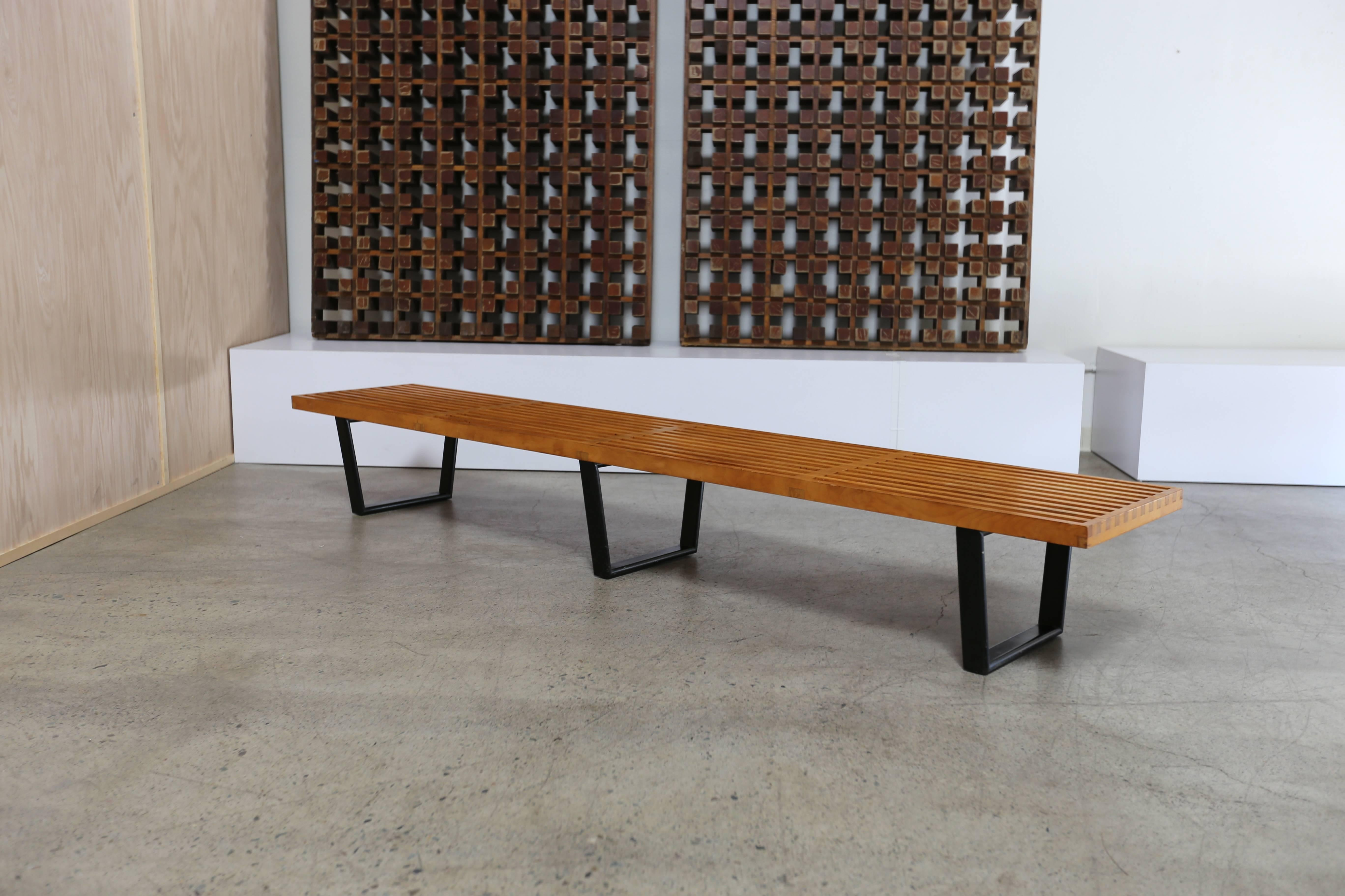 model auction auctions of associates august slat mass george nelson herman miller wright day modern bench