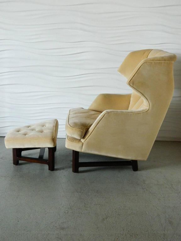 Janus Wing Chair And Ottoman By Edward Wormley For Dunbar