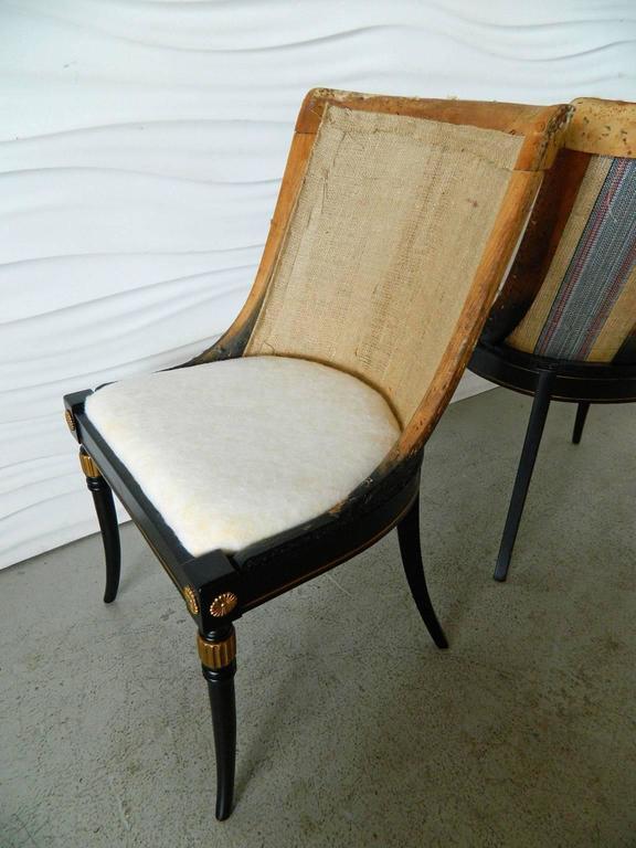 Pair of Regency-Style Chair Frames 4