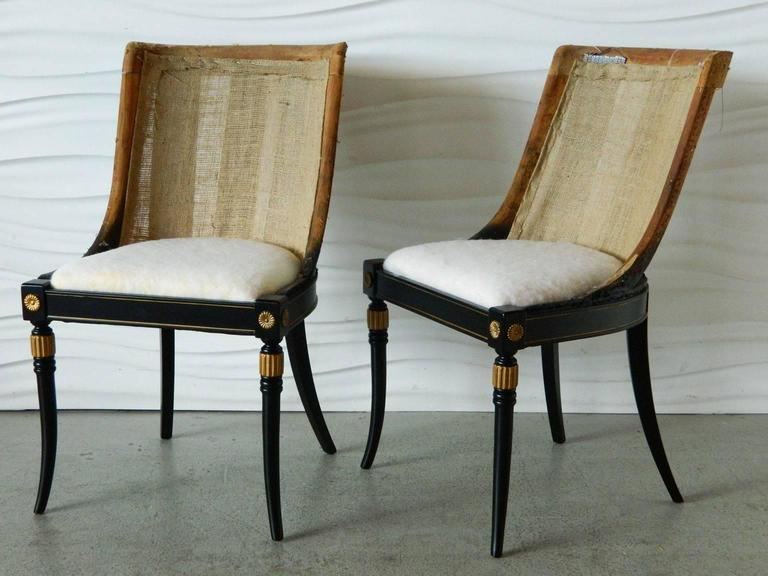 Unknown Pair of Regency-Style Chair Frames For Sale