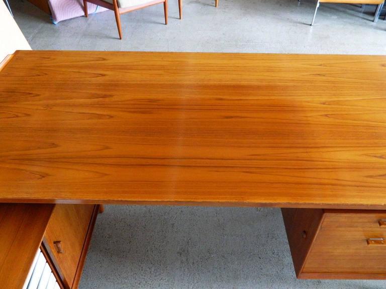 Executive L Shaped Desk With Overhang Cherry And Walnut: Arne Vodder Teak Executive Desk For Sibast At 1stdibs