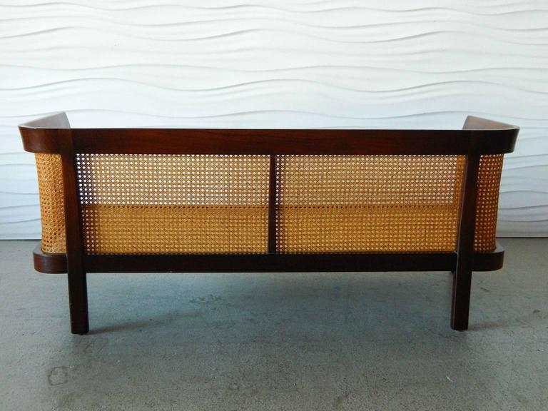 American Erwin-Lambeth Caned Settee For Sale