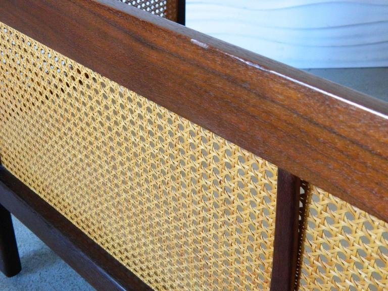Erwin-Lambeth Caned Settee For Sale 1