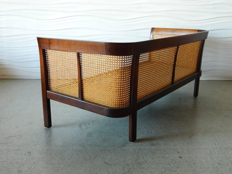 Erwin-Lambeth Caned Settee In Good Condition For Sale In Baltimore, MD