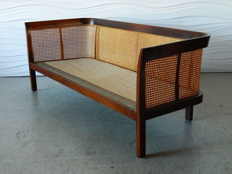 Erwin-Lambeth Caned Settee For Sale 3