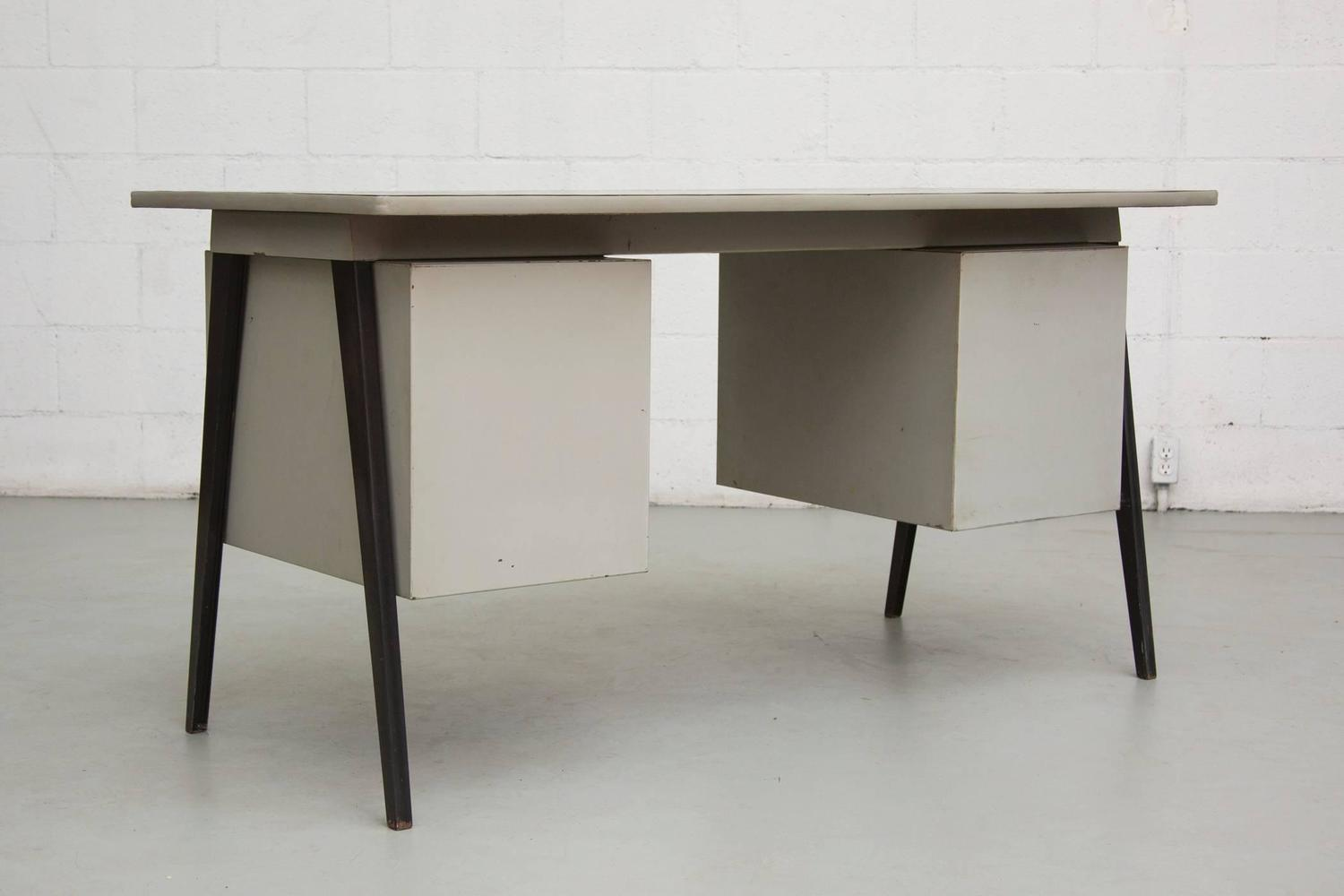 Industrial style six drawer office desk at 1stdibs - Industrial office desk ...