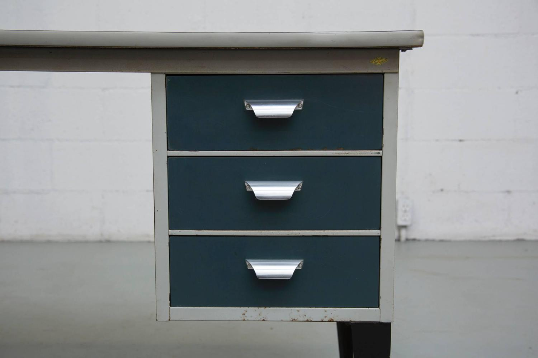 Friso Kramer Style Small Industrial Desk at 1stdibs