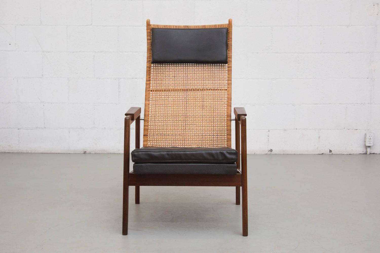P J Muntendam Mid Century Rattan Lounge Chair at 1stdibs