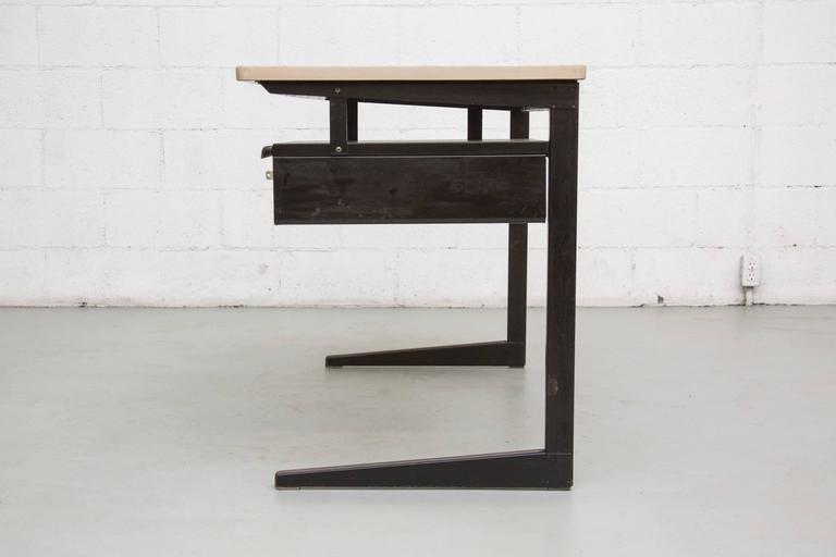 Enameled Friso Kramer Teacher's Desk with Drawer For Sale
