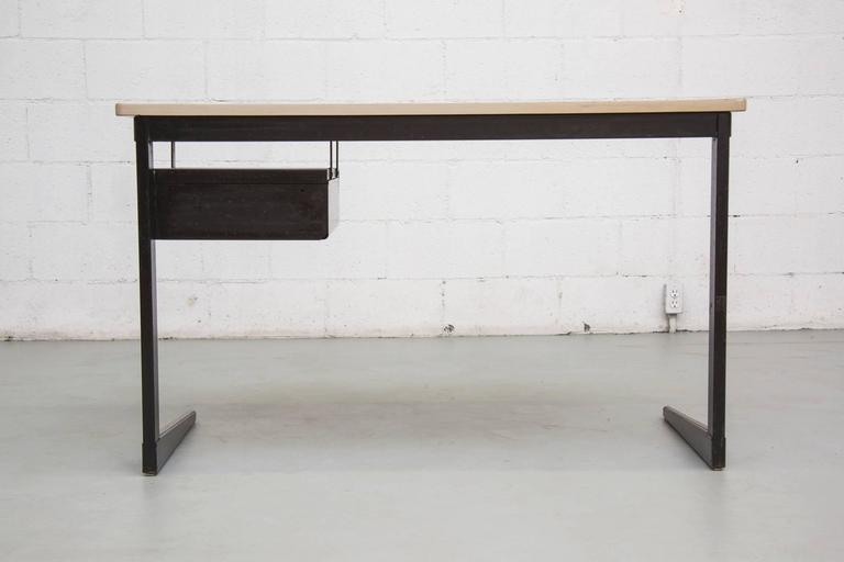 Friso Kramer Teacher's Desk with Drawer In Good Condition For Sale In Los Angeles, CA