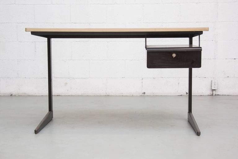 Mid-Century Modern Friso Kramer Teacher's Desk with Drawer For Sale