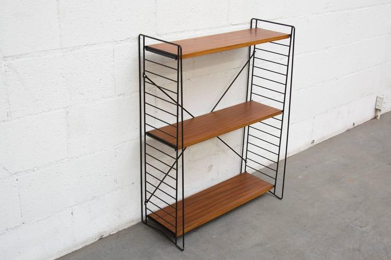 mdf detail product assemble shelf wooden panel easy standing bookshelf case book free