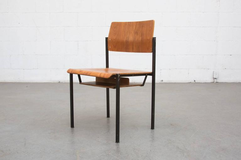 thonet stacking church chairs with book cubby 3