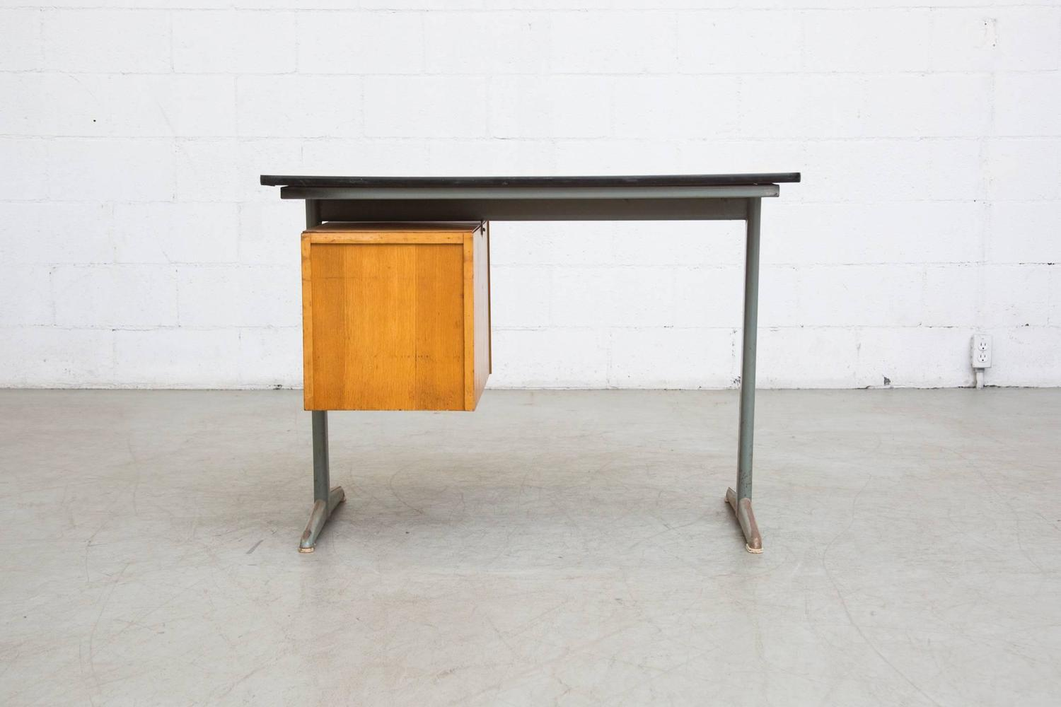 Dutch Mid Century School Desk For Sale At 1stdibs. Full resolution‎  photograph, nominally Width 1500 Height 1000 pixels, photograph with #AE6B1D.