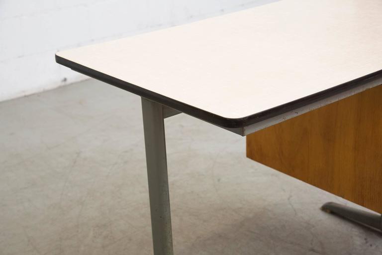 Steel Dutch Mid Century School Desk For