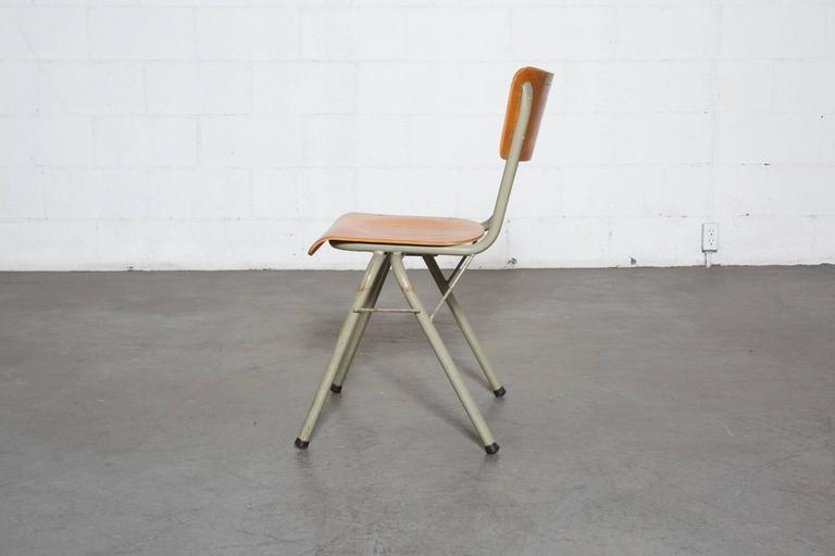 Tubax Birch Stacking School Chairs with Side Hooks at 1stdibs