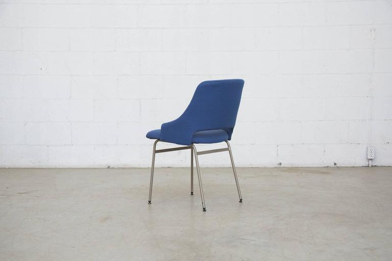 Set Of Four Pastoe Fm 32 Chairs In Royal Blue For Sale At