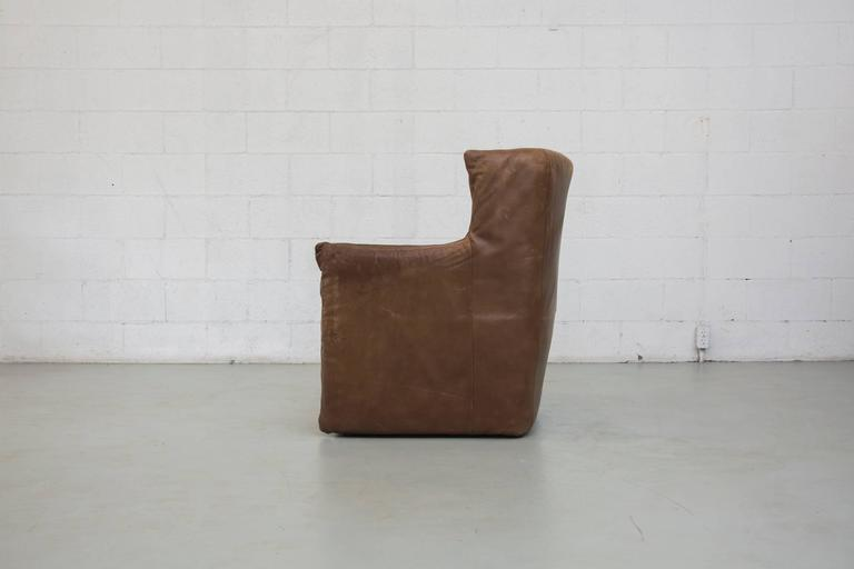 Mid-Century Modern Gerard van Den Berg Leather Lounge Chair For Sale