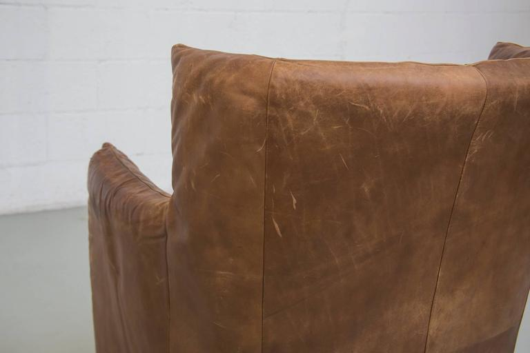 Late 20th Century Gerard van Den Berg Leather Lounge Chair For Sale