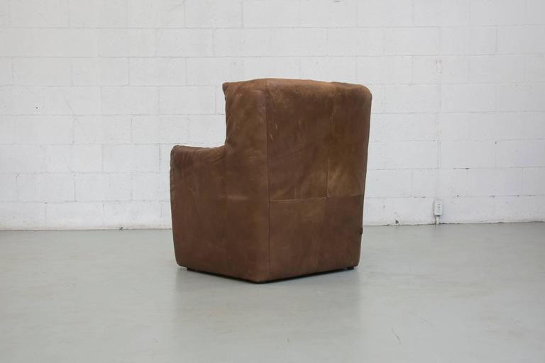 Dutch Gerard van Den Berg Leather Lounge Chair For Sale