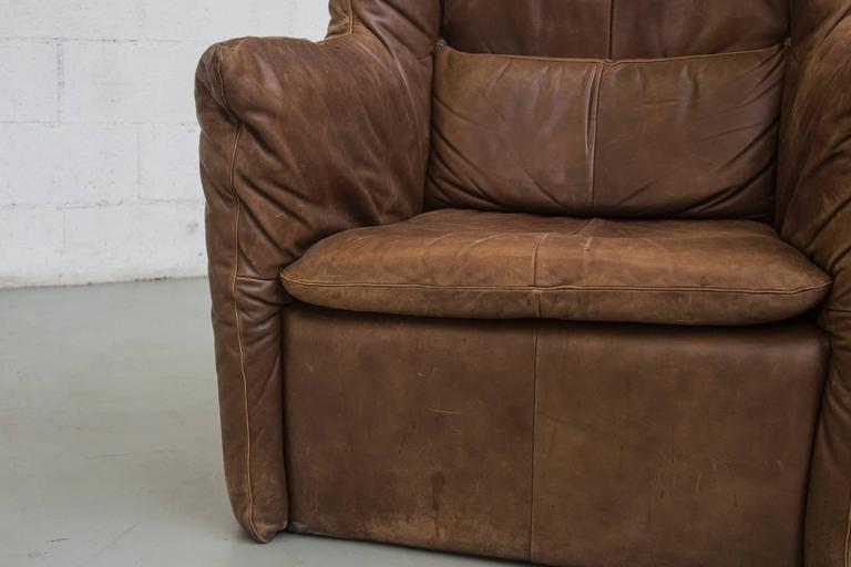 Gerard van Den Berg Leather Lounge Chair For Sale 2