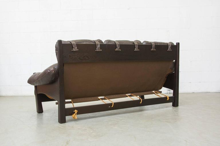 Dutch Gerard Van Den Berg Brazilian Influenced Three-Seat Sofa For Sale