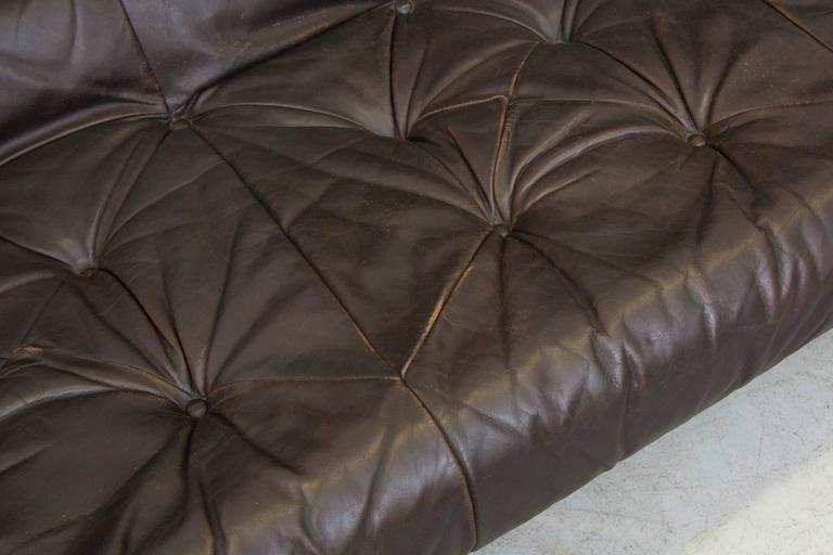 Leather Gerard Van Den Berg Brazilian Influenced Three-Seat Sofa For Sale