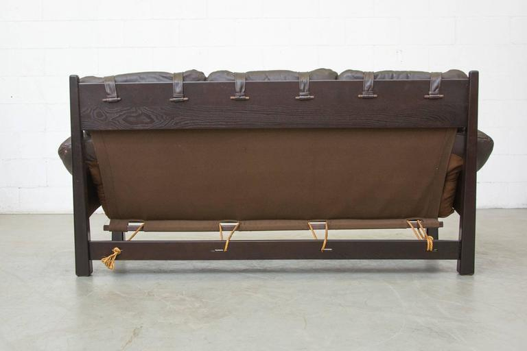 Gerard Van Den Berg Brazilian Influenced Three-Seat Sofa In Good Condition For Sale In Los Angeles, CA
