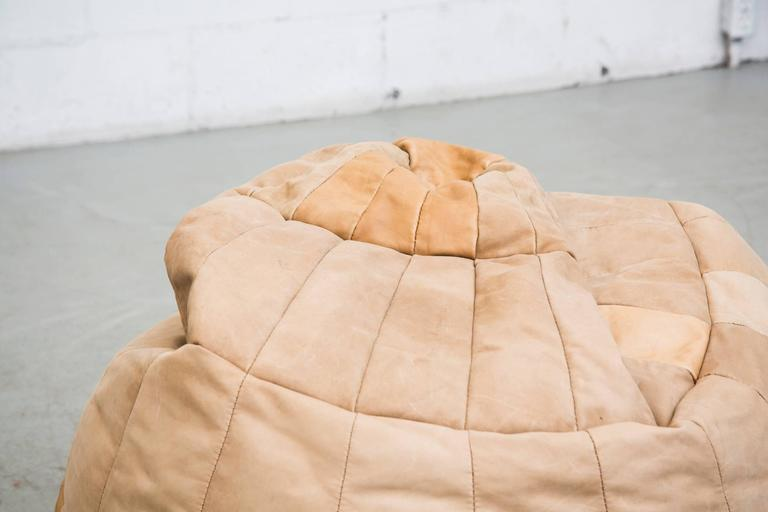 De Sede Style Leather Bean Bag Chair 3