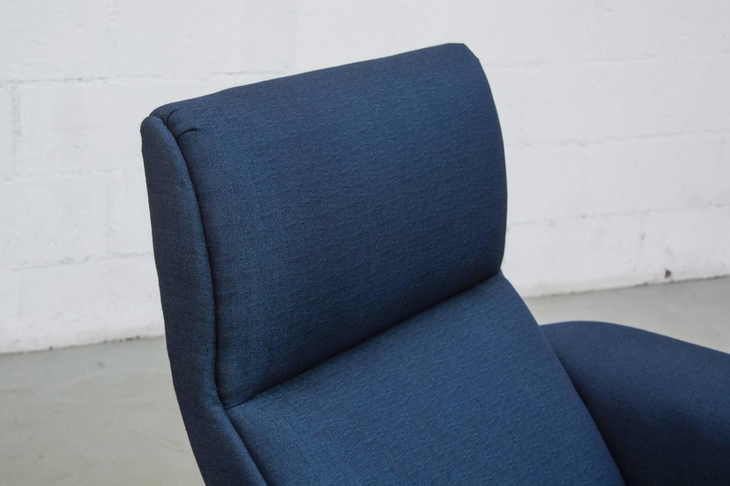 Kjaerholm Style Lounge Chair With Rosewood Legs By