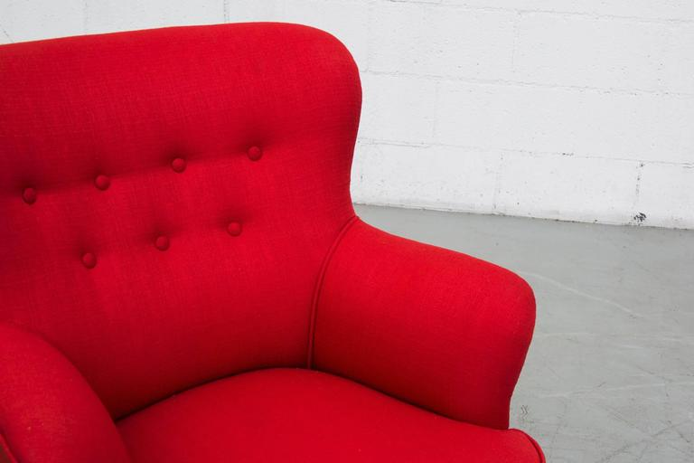 Lipstick Red Lounge Chair By Theo Ruth For Artifort For