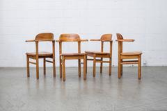 Set of Four Swedish Pine Armchairs
