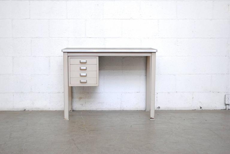 Mid-Century Modern Small Dutch Industrial Desk or Vanity For Sale
