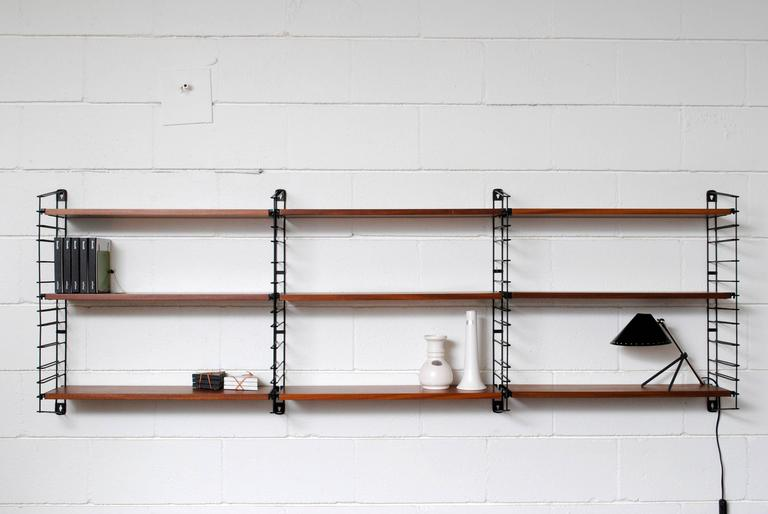 Adriaan Dekker for Tomado, Three Section Wall Mount Bookshelf 2