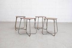 Willy Van Der Meeren Style Stools with Loop Frame