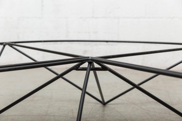 Paolo Piva Black Wire Corner Coffee Table 6