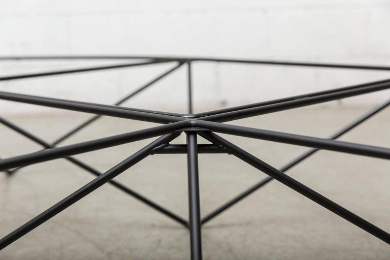Late 20th Century Paolo Piva Black Wire Corner Coffee Table For Sale