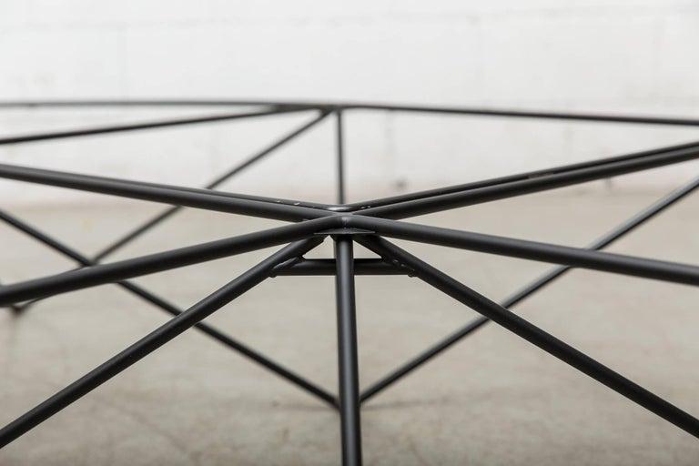 Paolo Piva Black Wire Corner Coffee Table 7