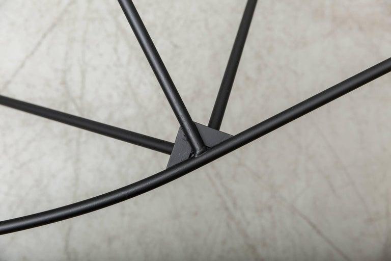 Paolo Piva Black Wire Corner Coffee Table For Sale 1