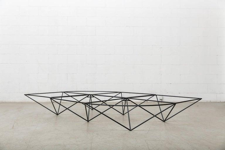 Paolo Piva Black Wire Corner Coffee Table 10