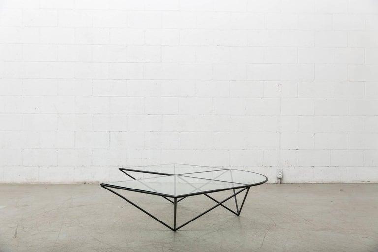 Paolo Piva Black Wire Corner Coffee Table 3