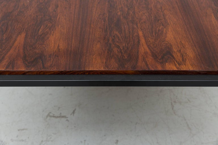 Japanese Series Style Rosewood Dining Table In Good Condition For Sale In Los Angeles, CA