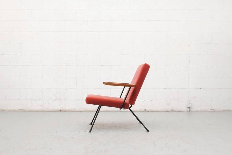 Dutch Gispen 1409 Velvet Armchair For Sale