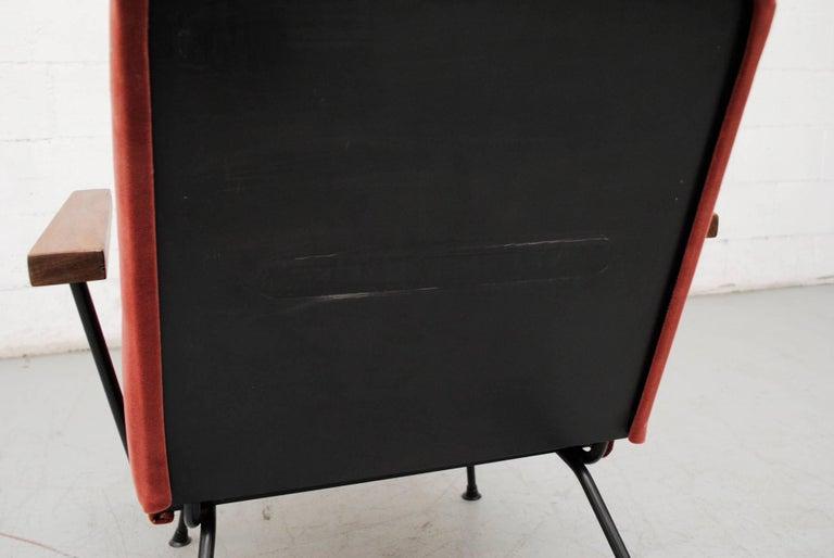 Mid-20th Century Gispen 1409 Velvet Armchair For Sale