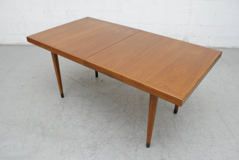Midcentury Nana Ditzel Danish Teak Dining Table In Good Condition For Sale In Los Angeles, CA
