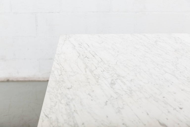 """Friso Kramer Marble Topped """"Reform"""" Table In Good Condition For Sale In Los Angeles, CA"""