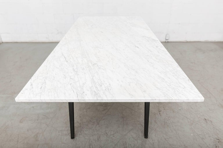 "Dutch Friso Kramer Marble Topped ""Reform"" Table For Sale"